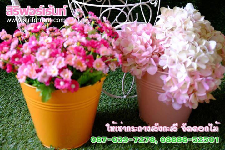 อุปกรณ์ให้เช่า อุปกรณ์จัดงานให้เช่า อุปกรณ์สำหรับจัดดอกไม้ ถังสังกะสีจัดดอกไม้